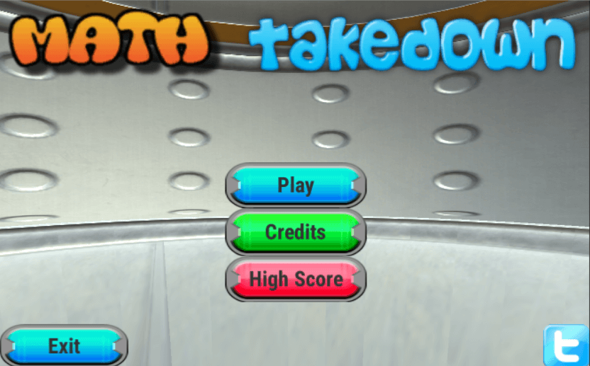 Math Takedown title screen